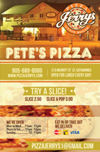 PIZZA JERRY'S St. Catharines